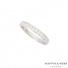 Mappin & Webb 18k White Gold Half Diamond Eternity Ring